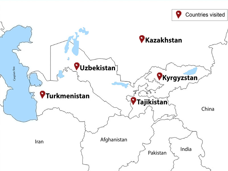 map-5 Stans - 23 Days Central Asia Tour