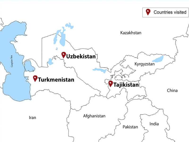 map-3 Stans - 15 Days Central Asia Tour