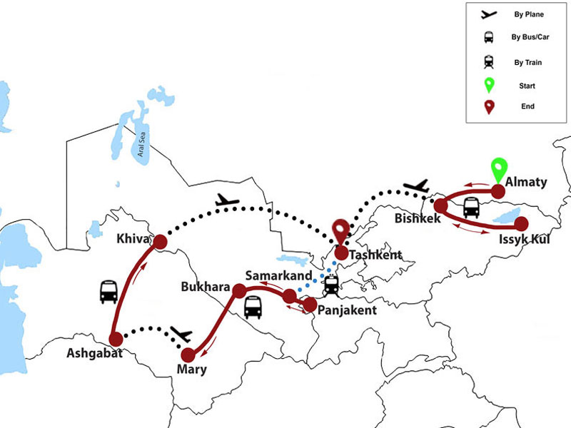 map-Silk Road Tour