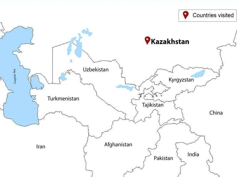 map-Highlights of Kazakhstan