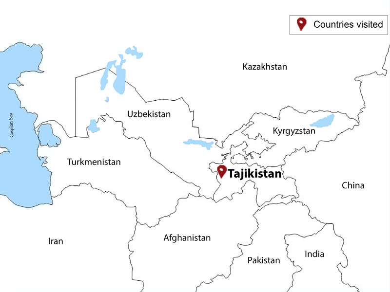 map-Highlights of Tajikistan