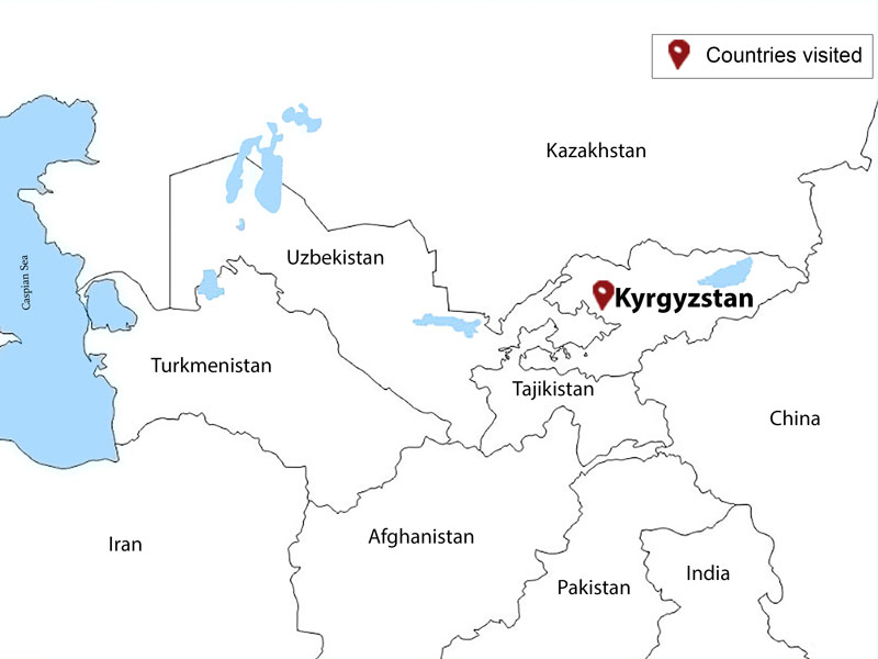 map-Highlights of Kyrgyzstan